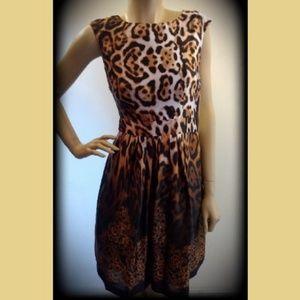 NWT Boston Proper Animal Lace Ombre Leopard Dress